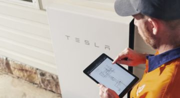 First Solar Battery With Tesla Powerwall