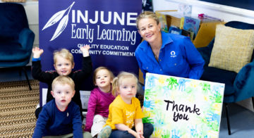 Working with the Injune Early Learning Centre to provide early education