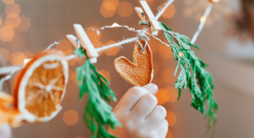 How to make a dried orange garland