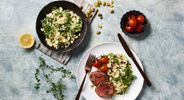 Beef Fillet With Cauliflower Couscous Recipe