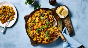 Chicken, Chorizo and Bean Paella Recipe