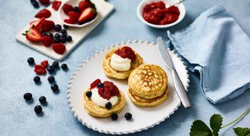 Crumpets With Chia Strawberry Jam Recipe