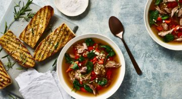 Lamb & Barley Soup With Bruschetta Recipe