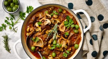Beef Shanks With Mushrooms & Olives Recipe