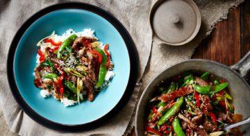 Beef and Sugar Snap Hoisin Stir-Fry Recipe
