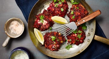 Beetroot Fritters With Zucchini Tzatziki Recipe