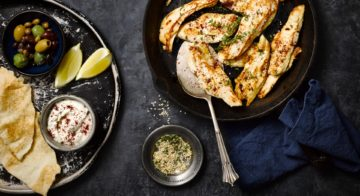 Pan-Fried Chicken With Tahini Sauce Recipe