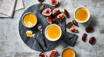 Caramel and Date Creams Recipe