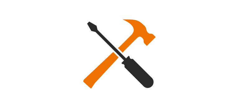 screwdriver hammer illustration