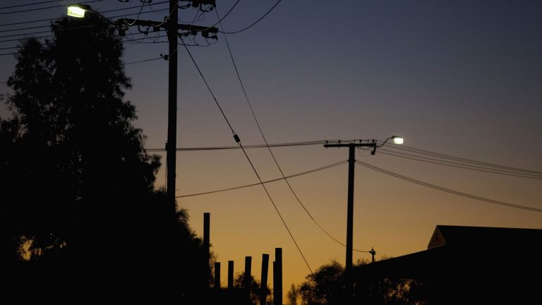 powerlines dusk tall
